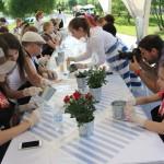 выездной мастер-класс по декупажу садовой утвари
