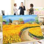 корпоративный мастер-класс по живописи
