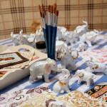 декупаж и роспись крамической игрушки мастер-класс