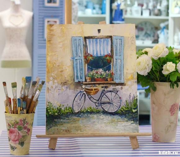 мастер-класс живопись, картина маслом и мастихином