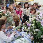 выездной цветочный мастер-класс, создание бутоньерок и букетов