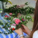 выездной флористический мастер-класс, создание венка для волос