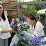 выездной мастер-класс для женщин, создание букета