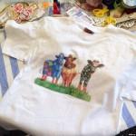 мастер-класс декорирование футболки, декупаж на ткани
