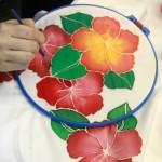 мастер-класс батик роспись платка