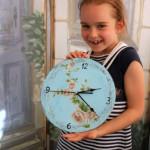 детский мастер-класс создание настенных часов