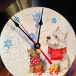 часы с собакой новогодний мастер-класс