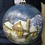 мастер-класс декор новогоднего шара